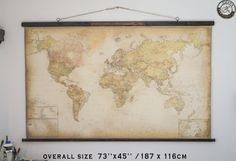 102 best best wall maps from the old world zmaps images on framed world map 2018 88 x 62 cotton clothcountry style artlarge country wall decorprimitive decor rustic room decor wooden decor gumiabroncs Choice Image