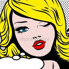 Clins d'oeil Pop Art femme (rétrogirl)