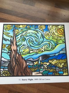 July Peachoune's entry to our Starry Night contest Van Gogh Art, Van Gogh Paintings, Vincent Van Gogh, Night, Artist, Artwork, Work Of Art, Auguste Rodin Artwork, Artworks