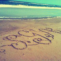 Beach monogram!!!!!! I HAVE TO THIS!!!!!!!!!