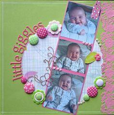 toddler scrapbook page ideas - Yahoo Image Search Results Baby Boy Scrapbook, Scrapbook Bebe, Baby Scrapbook Pages, Scrapbook Designs, Scrapbook Sketches, Scrapbook Page Layouts, Scrapbook Paper Crafts, Scrapbook Cards, Creative Memories