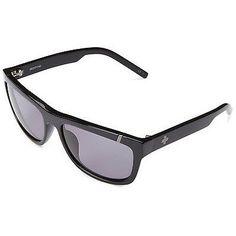 Spy Optic MURENA Women's Wayfarer Sunglasses Shiny Black Frame Grey Green Lens