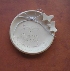 Porta alianças de casamento pratinho de cerâmica