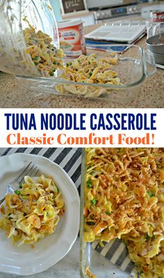 Make creamy tuna noodle casserole just like grandma used to make with this easy and crowd-pleasing recipe! Tuna Casserole Recipes, Tuna Recipes, Easy Mushroom Soup, High Calorie Diet, Healthy Tuna, Favorite Recipes, Stuffed Peppers, Weight Loss, Lasagna