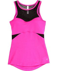 MESH CUT OUT TANK PINK ready to wear tops no classes sleeveless