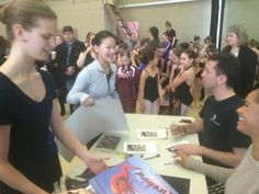 Meet and greet with Carlos and Misty at a master class for Ballet in Cleveland.