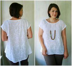 Simplicity 1693  @Lliza jane sews: Two White Tops