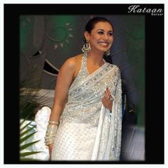 #Rani Mukherjee in a beautiful White saree