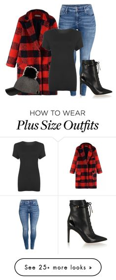 """""""Plus Size - Lumberjack"""" by kurvy-katie on Polyvore featuring H&M, WearAll, Sam Edelman, women's clothing, women, female, woman, misses, juniors and plussize"""