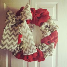 burlap wreath - Google Search