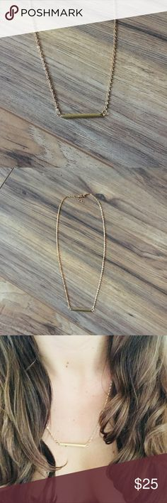 Gold Bar Necklace Simple Bar Necklace. Great for laying or by itself. Jewelry Necklaces