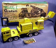 Rare to find, Buddy L Gradall  pressed steel toy
