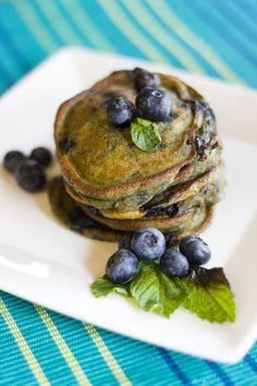 Pumpkin Blueberry Pancakes on http://www.draxe.com