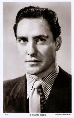 British postcard in the Picturegoer Series, no. Richard Todd, Compare And Contrast, Big Star, In Hollywood, Singer, Actors, Film, Vintage, Male Celebrities