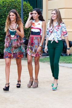 Attendees of 080 in Barcelona, Spain. I only like the outfit in the middle. The other two are fugly.