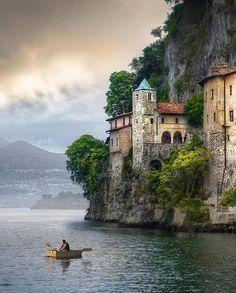 Antique Abbey ( Monastero di St. Caterina ) on Maggiore Lake
