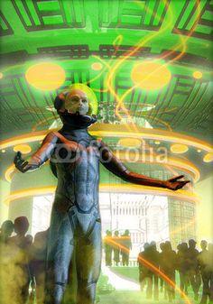 UFO: alien mass abduction, art by Luca Oleastri - www.innovari.it #ufo