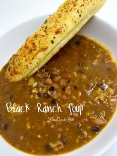 Black Ranch Beans from PineCreekStyle...best ever Black Bean soup you'll ever eat! Simple & Quick... Open & Dump recipe! It's that GOOD!