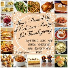 TONS of amazing thanksgiving recipes, from mains to side dishes to desserts and more!  excited about this!