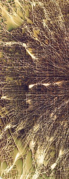 World's Cities Transformed into Vibrant, Flowing Maps of Eroded Terrain