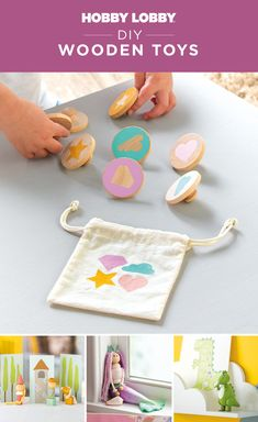 Create everything from dolls to games with DIY wood turnings. Wooden Diy, Diy Wood, Wood Crafts, Diy Crafts, Unique Gifts For Boys, Gifts For Kids, Diy Projects Videos, Fun Projects, Print Coupons