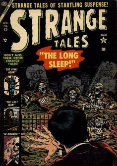 Strange Tales # 25 by Bill Everett Ec Comics, Horror Comics, Marvel Comics, Creepy Comics, Comic Book Covers, Comic Books, Marvel Masterworks, Vintage Comics, Vintage Cartoon