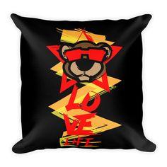 """Leo Lion 2 Square Pillow 18""""x18"""""""