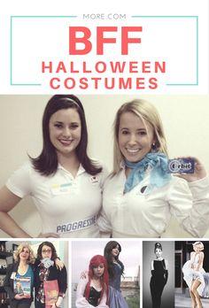 Make your Halloween costume twice as good this year with these BFF duo ideas! These 23 best friend Halloween costumes are sure to beat the cutsie couples and walk away with Girl Duo Costumes, Dynamic Duo Costumes, Partner Halloween Costumes, Make Yourself Halloween Costumes, Friend Costumes, Halloween Costumes For Teens, Costume Ideas, Halloween Duos, Twin Halloween
