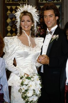 The 7 Most Memorable Modern Days of Our Lives Wedding Dresses Wedding Movies, Wedding Pics, Wedding Stuff, Bridal Gowns, Wedding Gowns, Old Fashioned Wedding, Glamour, Wedding Headband, Days Of Our Lives
