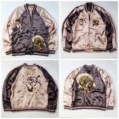 Vintage Japanese Gods Buddha Fujin Raijin Embroidered Sukajan Souvenir Jacket - Japan Lover Me Store