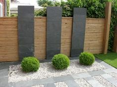 Agreeable contemporary garden fence design splendid wood beams on Modern Landscape Design, Modern Garden Design, Garden Landscape Design, Modern Landscaping, Garden Landscaping, Landscape Edging, House Landscape, Landscaping Ideas, Modern Design