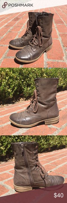 Women's Combat Boots American Rag combat boots bought from Nordstrom in 2012. Barely worn, just like new. American Rag Shoes Combat & Moto Boots