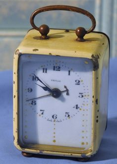 Antique Veglia Made In Italy Alarm Clock Parts Only Non Working in Collectibles, Clocks, Vintage (1930-69) | eBay
