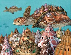 """David Wiesner """"Flotsam""""....Wiesner is a children's book illustrator who has an incredible ability to tell a story through imagery with minimal words in his self-written books. His illustrations are so theatrical and enchanting!"""