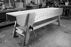 With the finish drying on my knockdown Nicholson workbench, I began working on a removable shelf to go below the bench. (Forgive me. I am so stuck in the 18th century when it comes to wanting a she…