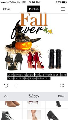 Ladies‼️‼️✨last chance to order any shoes that may go with your Halloween costumes✨. Order today and have your items by Friday!.   Www.NatalieBleu.com   #NatalieBleu #NatalieBleuShoes #Halloween #2k15