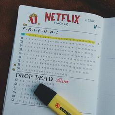 My Netflix tracker! Not that Drop Dead Diva is on Netflix. Oh well, you get the point. Any series that are a must to watch?… My Netflix tracker! Not that Drop Dead Diva is on Netflix. Oh well, you get the point. Any series that are a must to watch? Bullet Journal Netflix, Bullet Journal 2019, Bullet Journal Notebook, Bullet Journal Spread, Bullet Journal Inspiration, Bullet Journal Tv Series, Bullet Journal How To Start A Simple, Bullet Journal Reading Log, Bullet Journal Layout Ideas