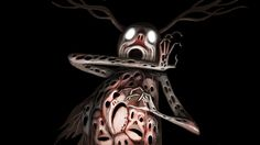 Over the Garden Wall- The Beast by Pat McHale. The art work in this show..