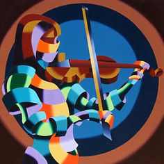 The Violinist Abstract Futurism Oil and Acrylic (Mixed Media) Painting by Northern California Artist Mark Webster. Violin Painting, Violin Art, Artist Painting, Figure Painting, Violin Instrument, Cello, Cubism Art, Painting Competition, Daily Painters