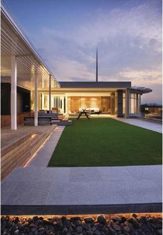 Lights between the pavers and stones       #ClippedOnIssuu from MODERN  DECORATION  ART