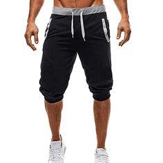 ea4fb313476 Men Sport Fitness Jogging Elastic Stretchy Bodybuilding Bermuda Sweatpants