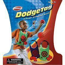 Diggin Active Dodge Tag by Diggin. $13.08. From the Manufacturer Dodge Tag is the ultimate 2-player DodgeBall game. Each player wears an air mesh vest and picks 3 balls. Players throw the soft, safe balls and try to stick them to their opponent's vests. Run, dodge and throw. If the ball sticks, it's a hit. Kids will love this fast paced, action-packed game. Includes 2 adjustable air-mesh vests and 6 soft, safe dodgeballs. For ages 5+. ...