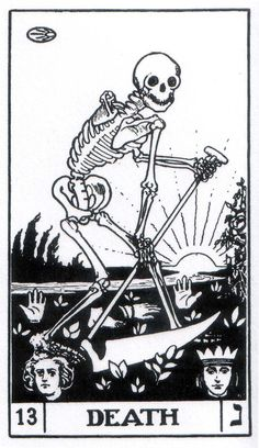 Variations of the death tarot card. A death of who you used to be. Tattoo Tod, Death Tattoo, Tarot Death, Tarot Card Tattoo, Tarot Astrology, Danse Macabre, Major Arcana, Oracle Cards, Illustrations