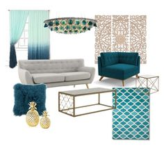 """""""Drawing Room"""" by shivika-ahuja on Polyvore featuring interior, interiors, interior design, home, home decor, interior decorating, Home Decorators Collection, Joybird Furniture, Two's Company and modern"""
