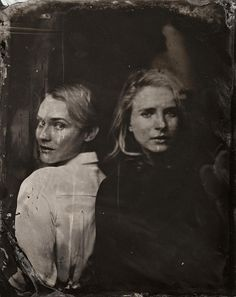 Diane Kruger and Brit Marling // pose for a tintype (wet collodion) portrait at The Collective and Gibson Lounge Powered by CEG, during the 2014 Sundance Film Festival in Park City, Utah. (Photo by Victoria Will/Invision/AP) 2014 Sundance tIn type portraits