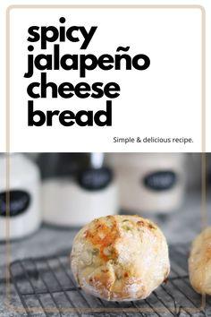 Gluten Free Recipes, Easy Recipes, Vegetarian Recipes, Easy Meals, Healthy Recipes, Jalapeno Cheese Bread, Healthy Food, Yummy Food, Bread Bowls