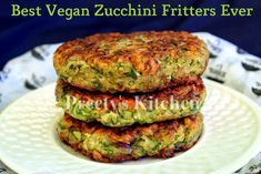 Best Vegan Zucchini Fritters Ever Recipe with zucchini, onions, clove, salt, black pepper, coriander powder, Garam Masala, all-purpose flour, baking powder, oil