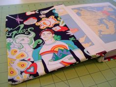 Fabric Book Cover diy