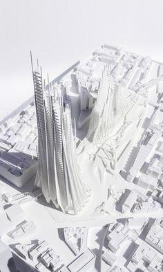 Inspirados en Zaha Hadid, estudiantes proponen escultóricos rascacielos en Londres,Cortesía de la Escuela de Arquitectura de Yale