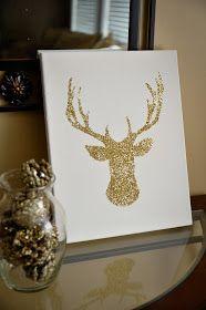 My Best Friend's Blog: Glitter Reindeer